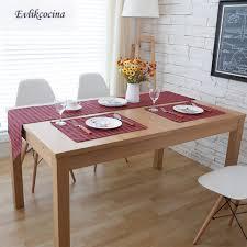 free shipping black plaid table runner decoracion mesa hogar