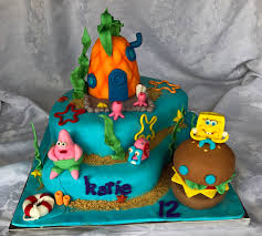 spongebob cake ideas spongebob and friends cake story cake designs