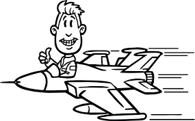 army jet plane coloring pages pilot man fighter airplane free