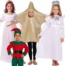 kids christmas nativity angel star fancy dress costume age 4 6 7 9