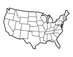 empty map of united states outline map usa with state borders enchantedlearningcom blank us