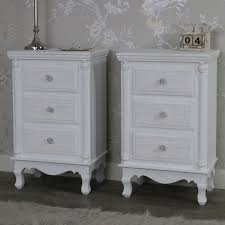 White Bedside Table Furniture Bundle Pair White Bedside Table Chests Lila Range