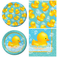 Rubber Ducky Baby Shower Decorations Amazon Com Creative Converting Bubble Bath Baby Shower Party