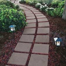 lay a stepping stone walkway