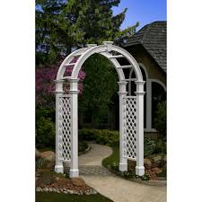 new england arbors nantucket legacy arched arbor without trim