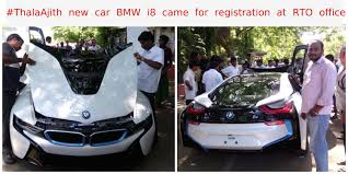 Bmw I8 Engine Specification - thala ajith new car bmw i8 came for registration at rto office