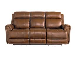 Powered Reclining Sofa by Bassett Marquee Umber Leather Power Reclining Sofa With Power