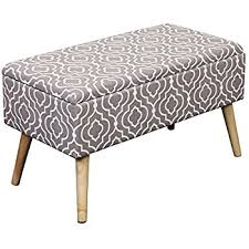 Ottoman Storage Bench Amazon Com Barton Ottoman Fabric Rectangular Storage Bed Bench