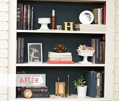 Dark Wood Bookshelves by Painted Foam Board For Temporary Change To Back Of Bookshelves