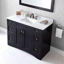 virtu usa 48 inch elise square sink vanity in espresso