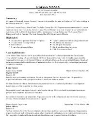entry level police officer resume examples