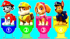 learn colors and numbers with paw patrol coloring page toilet