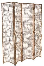 Metal Room Dividers by Viejo Folding Screen Rustic Folk Organic Folding Screens