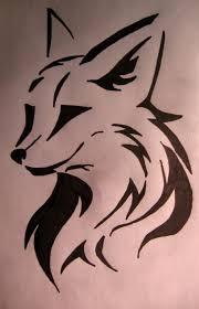tribal tattoo of fox