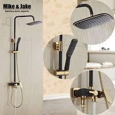 Bathroom Faucet And Shower Sets Bathroom Luxury Black Golden Shower Set Shower Antique Gold Shower