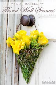 Yellow Wall Sconce Floral Wall Sconce Tutorial Make Your Own Floral Decor For