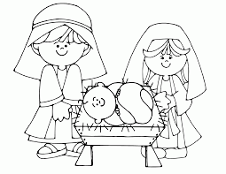 unique nativity scene coloring page 60 in coloring pages for