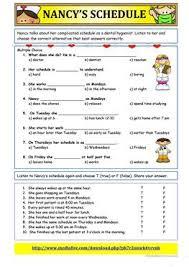 17 free esl schedule worksheets
