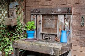 Outdoor Potters Bench The Potting Bench Photograph By Geraldine Alexander