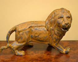 gold lion statues lion statue etsy