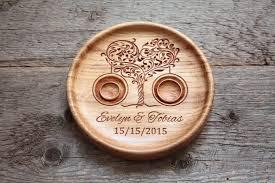 wedding ring holder ring bearer pillow alternative personalized wood wedding ring