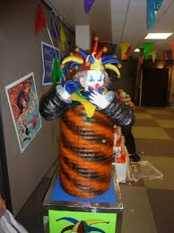 haunted idea clown area halloween crafts props diy pinterest