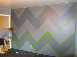 Painted Walls Not So Newly Weds March House Project Chevron For The Home