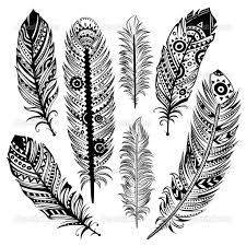 coloring pages of indian feathers indian feather drawing at getdrawings com free for personal use