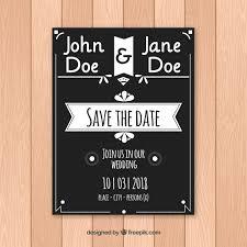 Black And White Wedding Invitations Elegant Black And White Wedding Invitation Vector Free Download