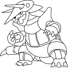 aggron pokemon coloring page free pokémon coloring pages