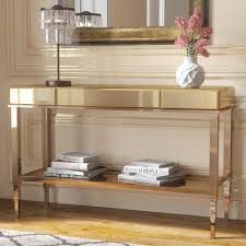 Mirrored Console Table Calisto Mirrored Console Table Reviews Joss