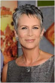 hairstyles for thin grey 50 plus hair how to transition to salt and pepper hair jamie lee curtis lee