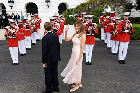 easter occasion speech melania wore millennial pink dress to the white house easter