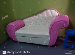 Pink Leather Chair by Garish Pink And White Leather Sofa Stock Photo Royalty Free Image