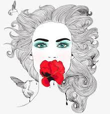 imagen blanco y negro en illustrator blanco y negro rose girl illustrator blanco y negro rosas chica