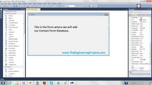 design web form in visual studio 2010 create database in microsoft visual studio the engineering projects