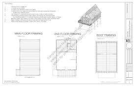 Cabin Blueprint by Raised Sds Plans
