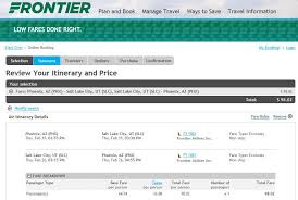 frontier baggage fees 98 phoenix to from salt lake city san francisco nonstop r t