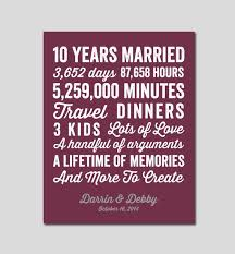 10th year wedding anniversary the 25 best 10 year anniversary gift ideas on 10th