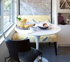 breakfast nook furniture very small round breakfast nook table with black leather chair and