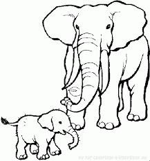 coloriage à imprimer coloriage elephants 013