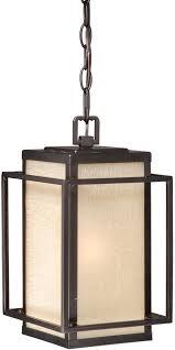 Outdoor Hanging Light Fixture Vaxcel T0025 Robie Craftsman Espresso Bronze Finish 7 25 Wide
