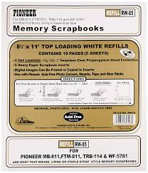 scrapbook inserts pioneer photo albums rw85 8 5 x 11 white top