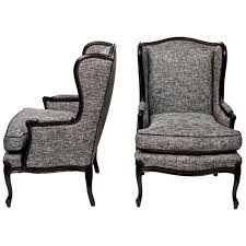 Tall Comfortable Chairs Furniture Pair Of Tall Wingback Chairs With Grey Colors And