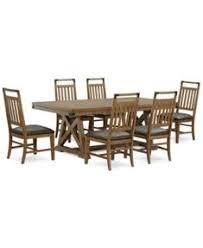 baker street dining table baker street dining furniture 7 pc set dining trestle table 4