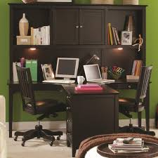 Designer Home Office Furniture by Espresso Teak Wood Home Office Desk For Two Person With Floating
