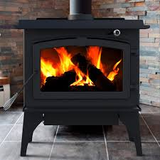 pleasant hearth medium wood burning stove with blower black