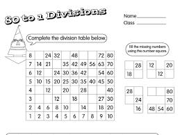 division matrix a year 3 division worksheet