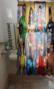 Dc Shower Curtain 19 Best Superhero Shower Curtain Images On Pinterest Shower