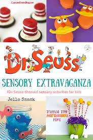 seuss themed sensory spectacular crafts snacks and activities to
